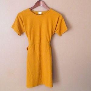 Zara yellow mustard dress